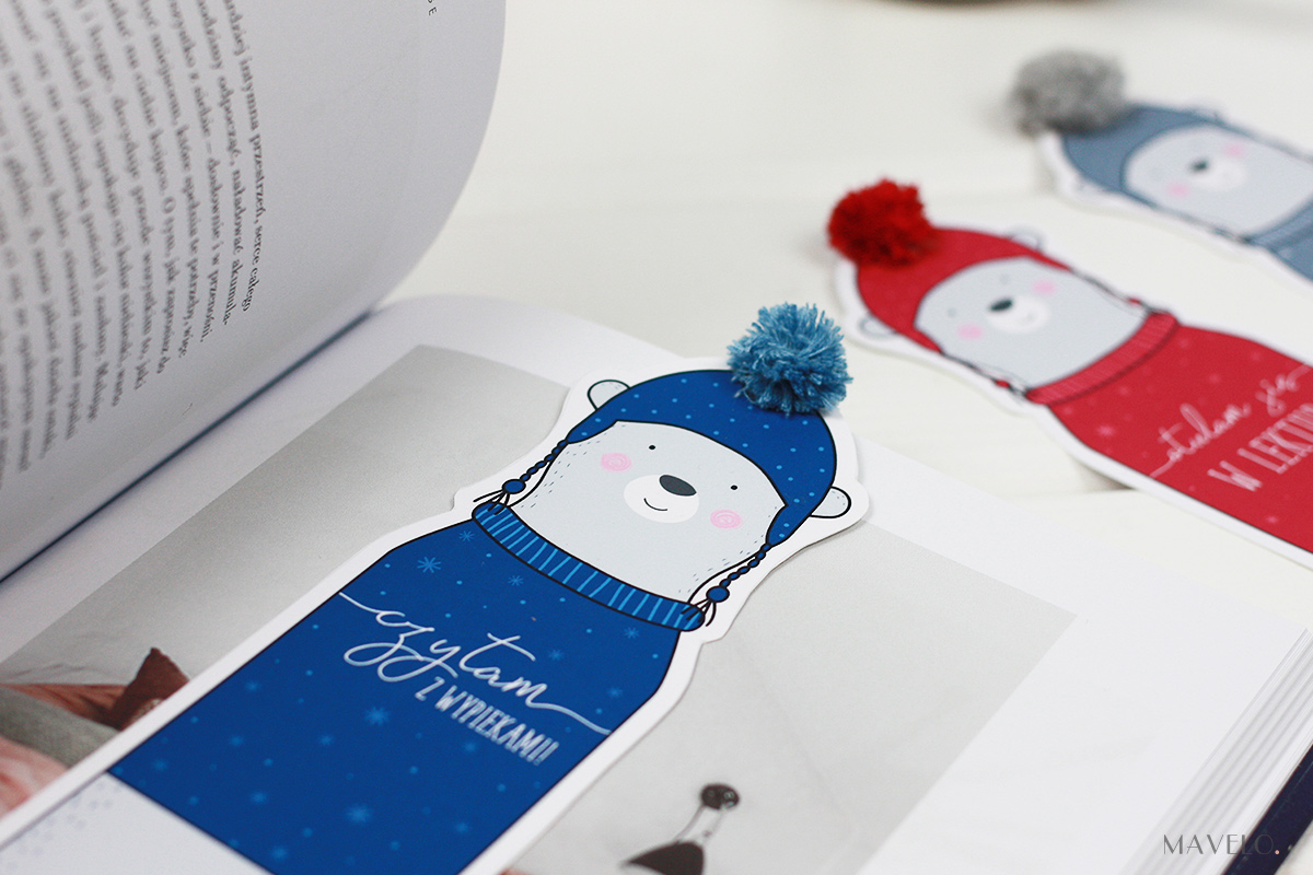 Zimowe zakładki do książek do druku