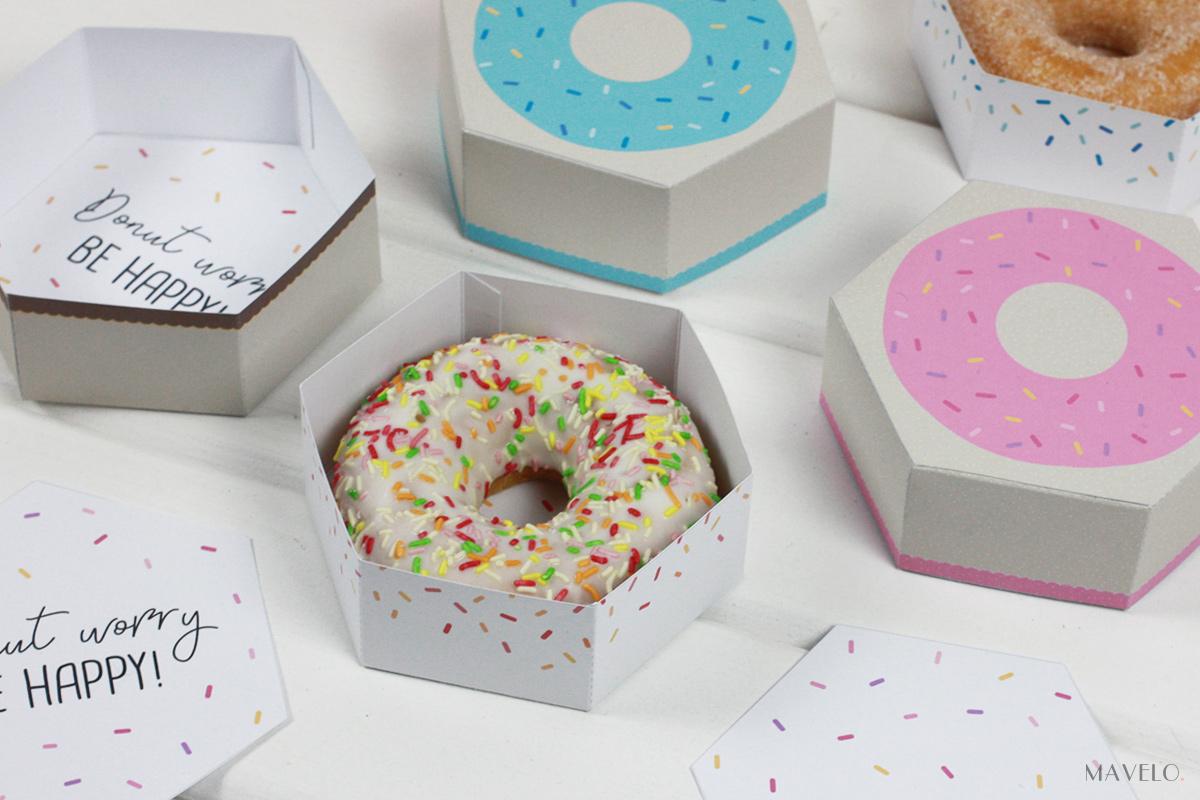 pudełko do druku donut / freebies