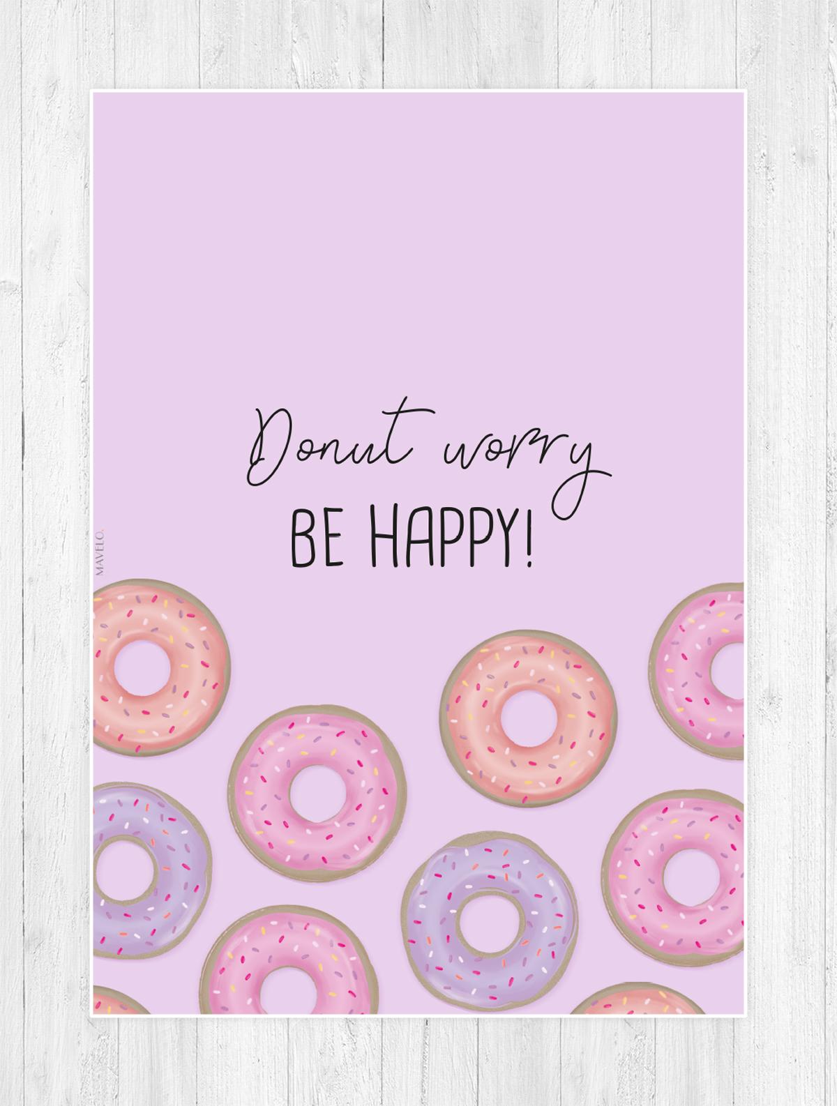 pastelowe plakaty / donut worry / free poster