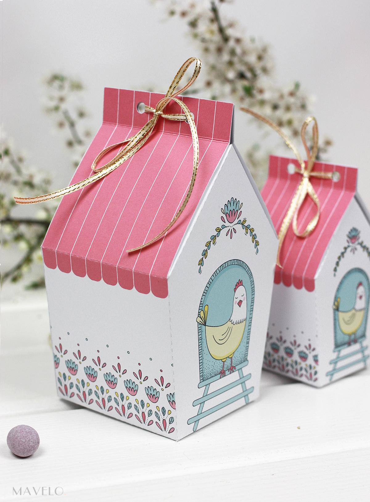 Wielkanocne pudełeczka - do druku w dwóch rozmiarach