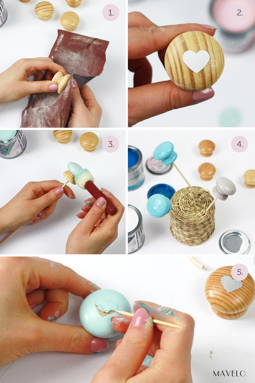 DIY: pastelowe gałki do mebli