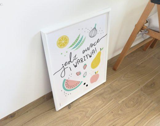 Plakat do kuchni do wydruku + metamorfoza mojej kuchni, cz.1