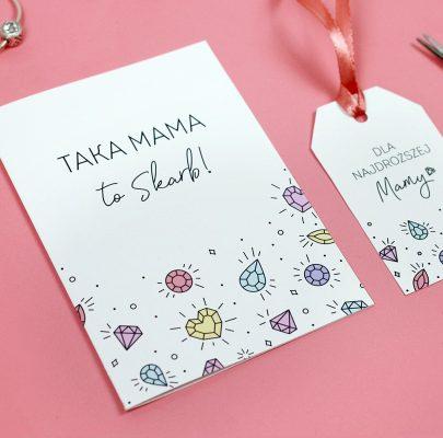 Kartki i etykiety na Dzień Mamy