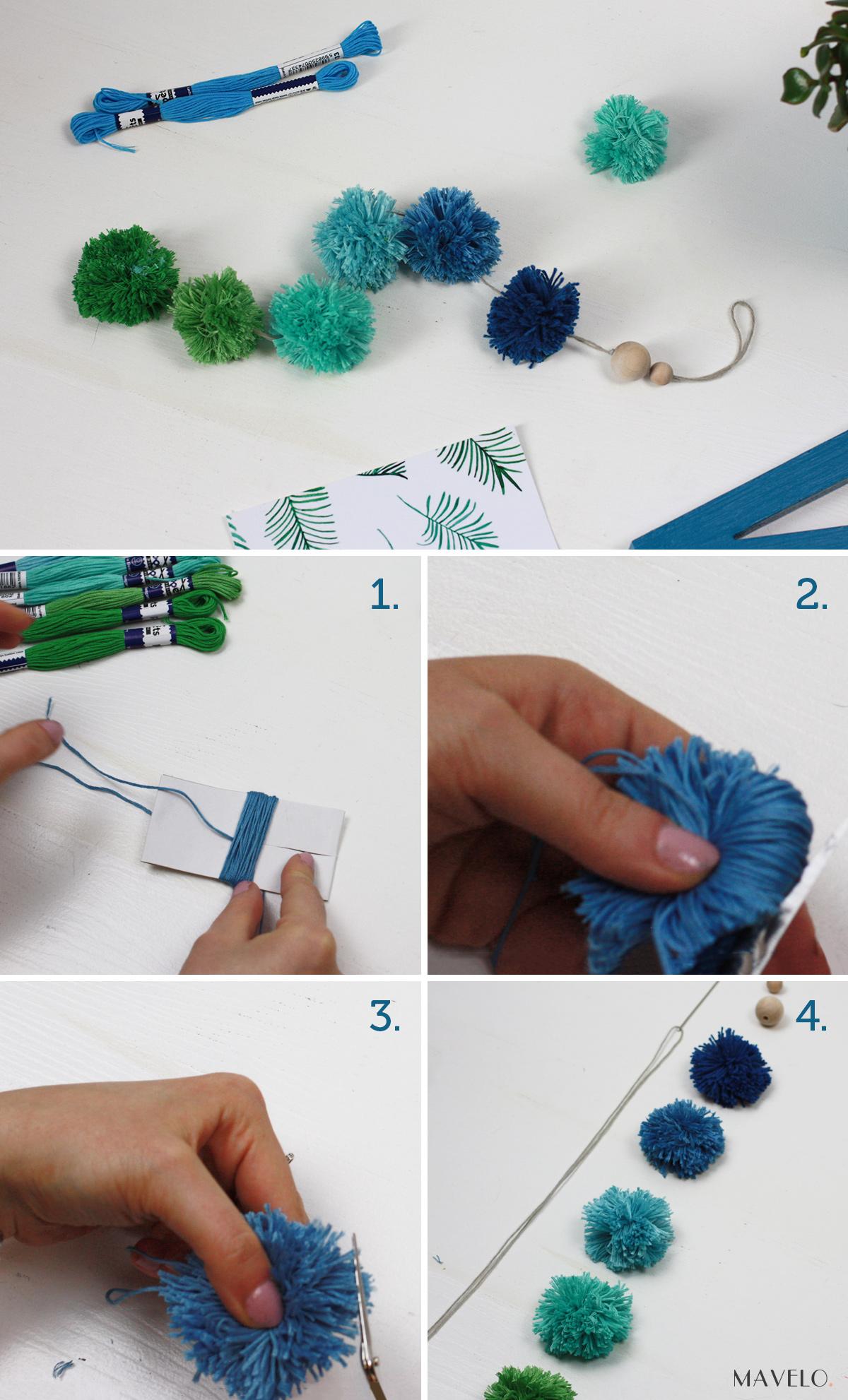 DIY - pomponowe dekoracje