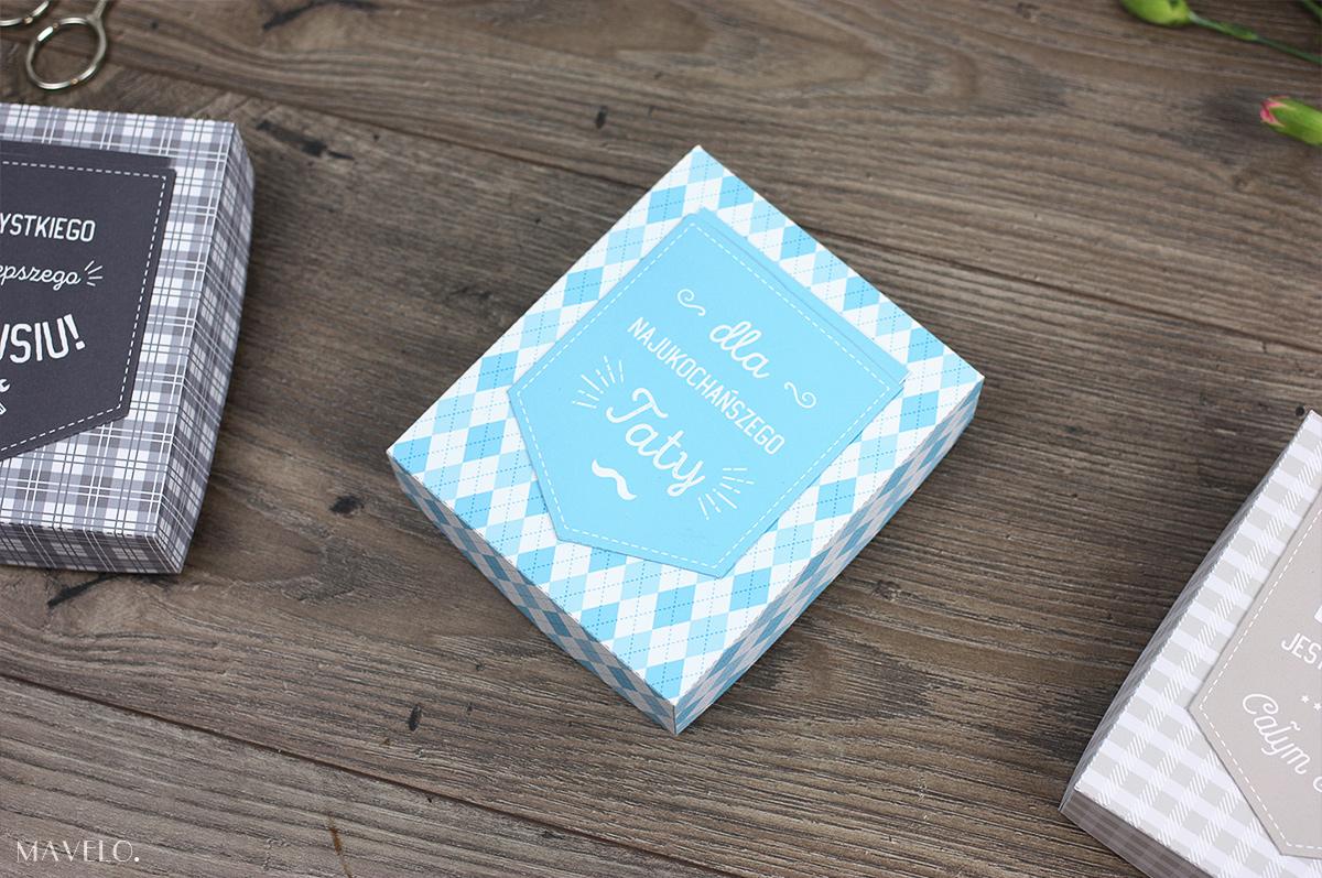 Prezent na Dzień Taty - pudełeczko z kieszonką do druku