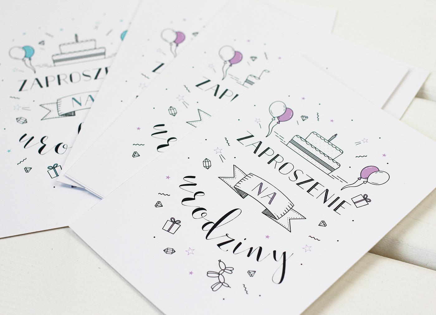 Kartki I Zaproszenia Na Urodziny Do Druku 2 3 Opcje Kolorystyczne