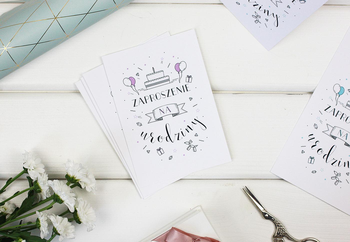 Cudowna Kartki i zaproszenia na urodziny do druku #2 (3 opcje XZ62