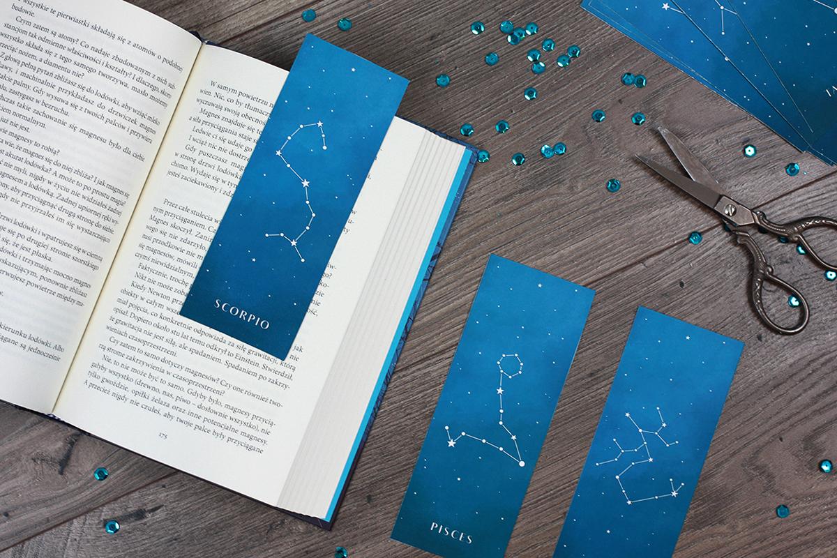 Zakładki do książek - znaki zodiaku