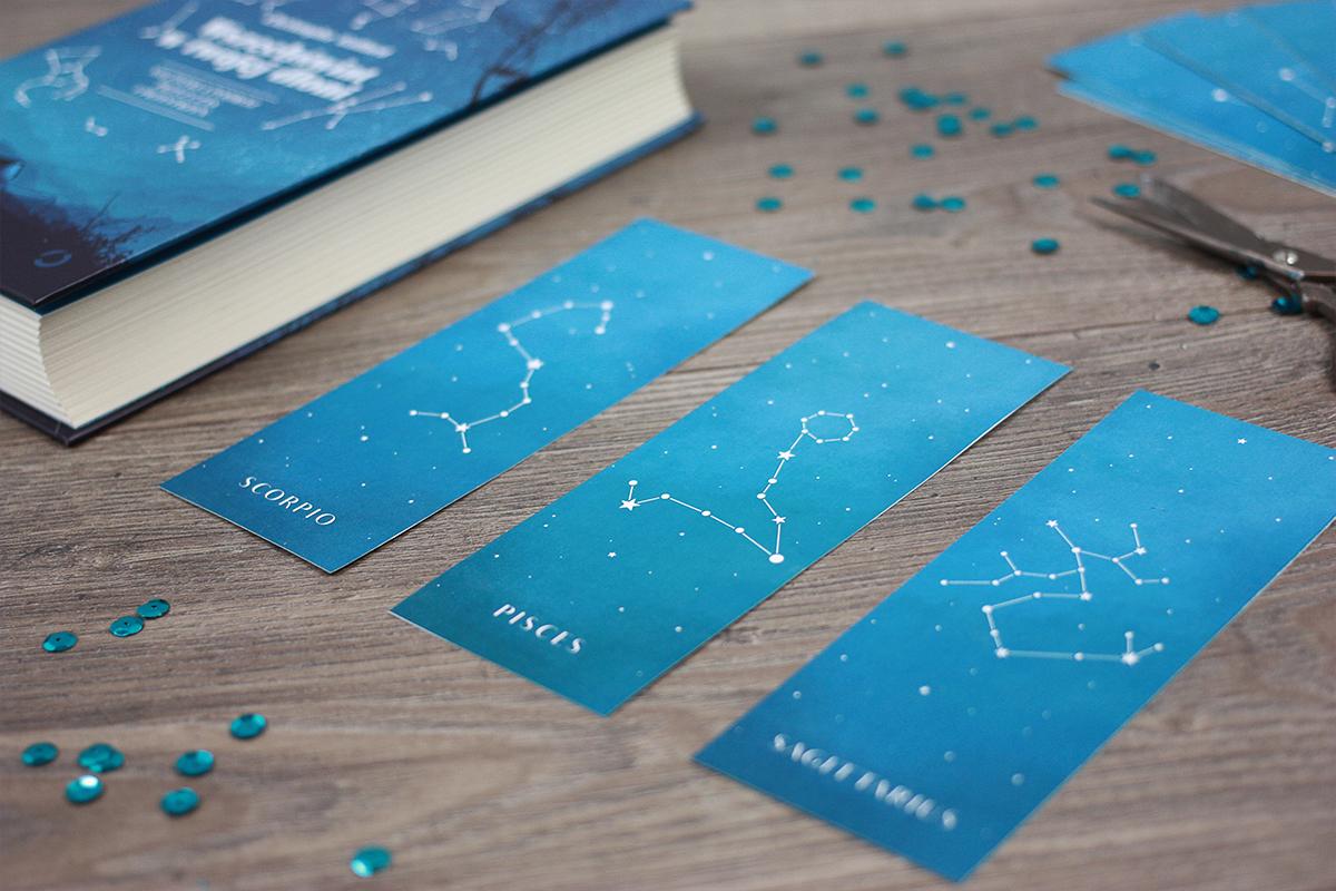 zakładki do książek z gwiazdami