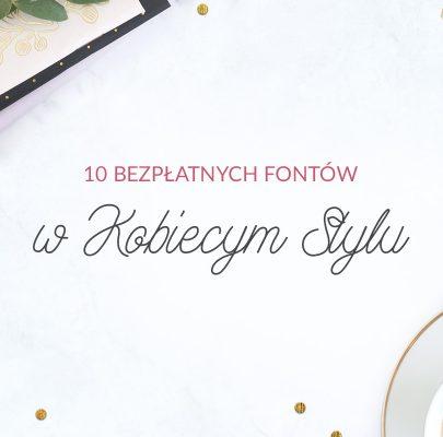 10 bezpłatnych fontów w kobiecym stylu
