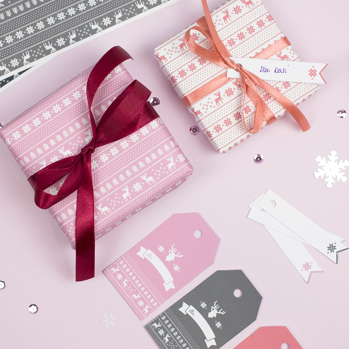 Etykiety świąteczne do druku