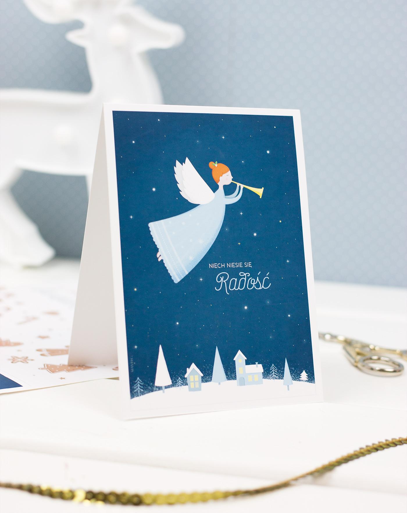 Kartki bożonarodzeniowe do druku