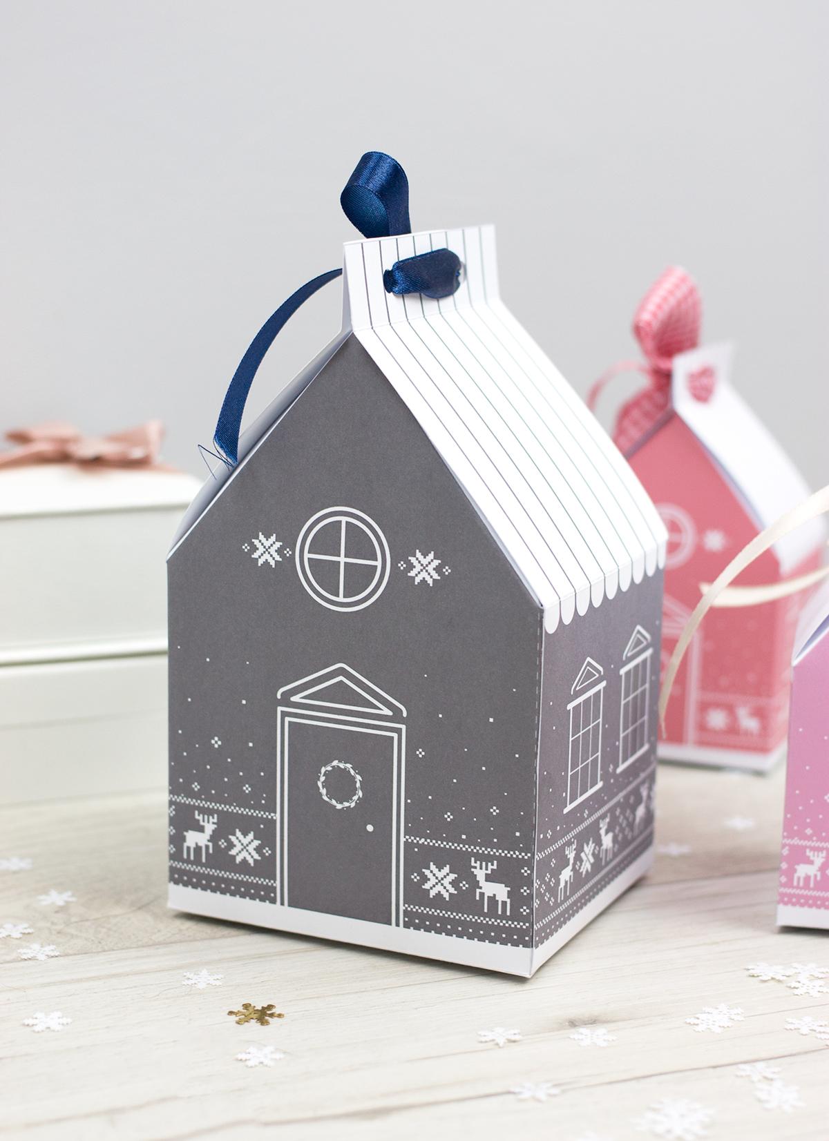 Papierowe domki - szablony do druku