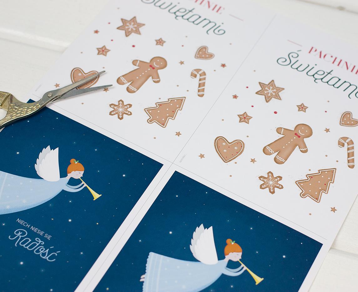 Pocztówki bożonarodzeniowe do druku