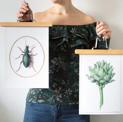 Botaniczne retro plakaty do druku! Kolejna niezwykła strona muzeum z darmowymi zasobami