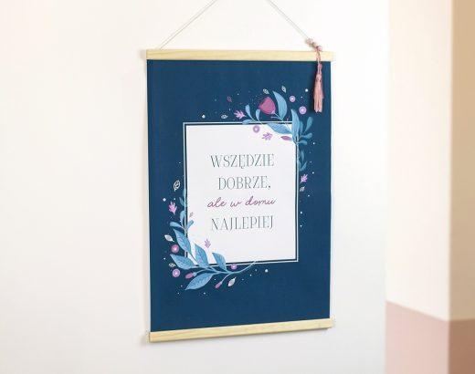 Plakat do przedpokoju do wydrukowania + ramka DIY