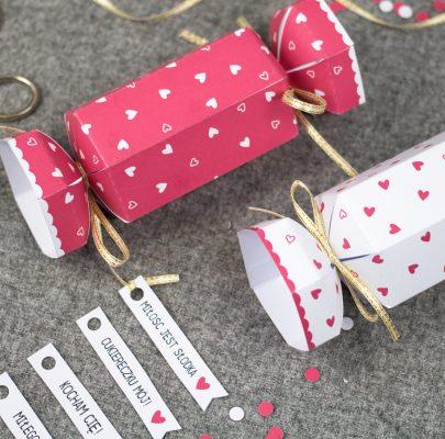 Walentynkowe cukierki – pudełeczka na prezenty
