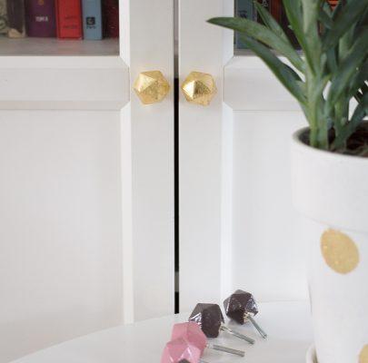 Ceramiczne, geometryczne gałki do mebli / stylowe DIY za grosze!