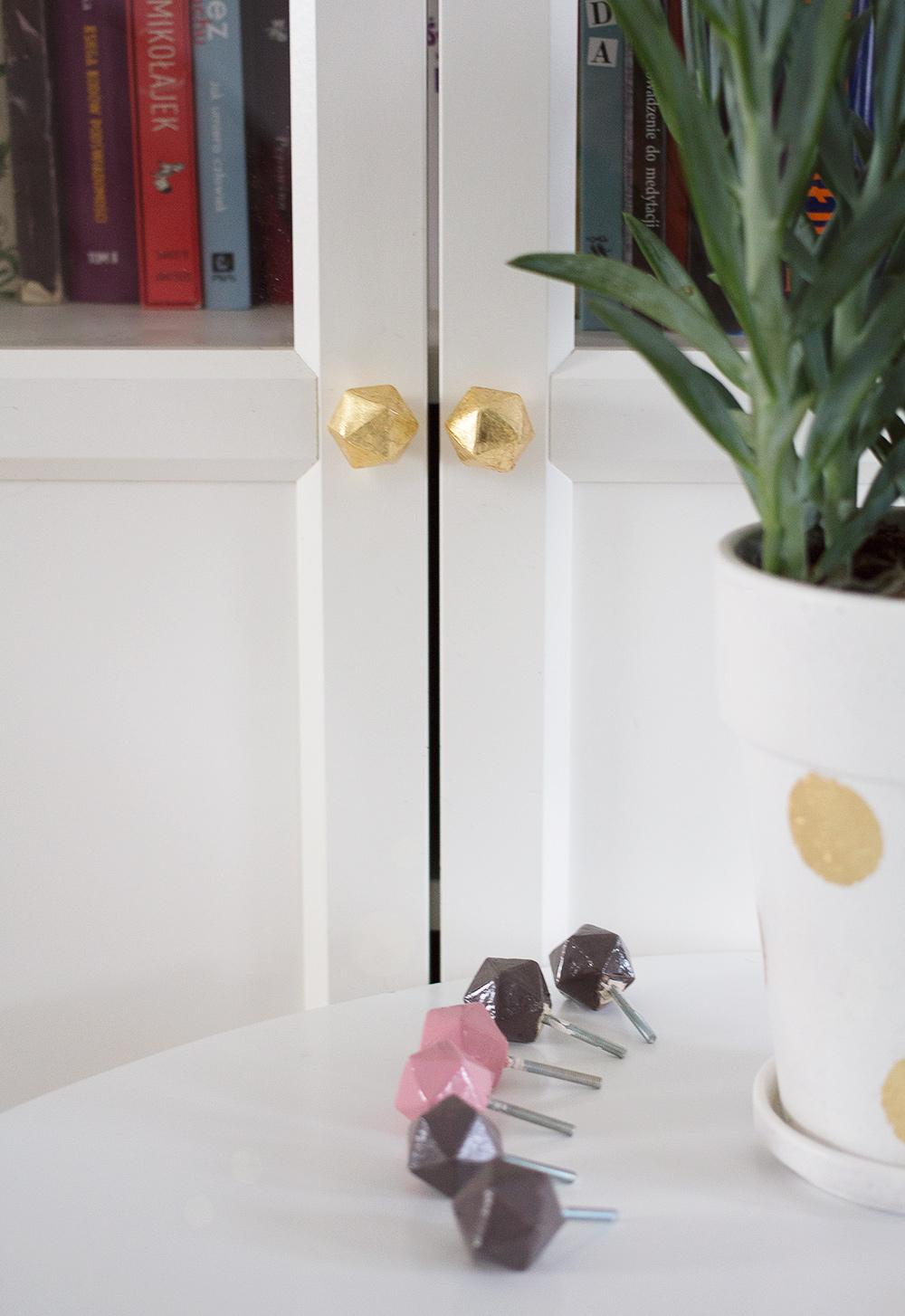 DIY: geometryczne gałki do mebli