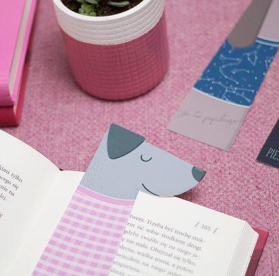 Zakładki do książek z psiakami
