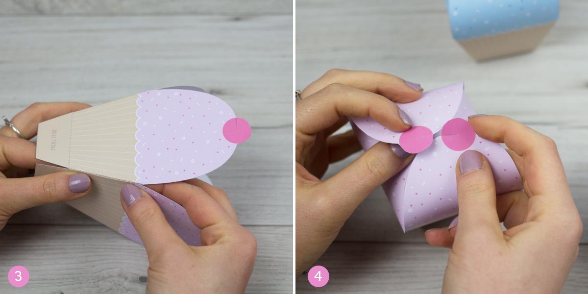 Pudełka muffiny - szablony do druku