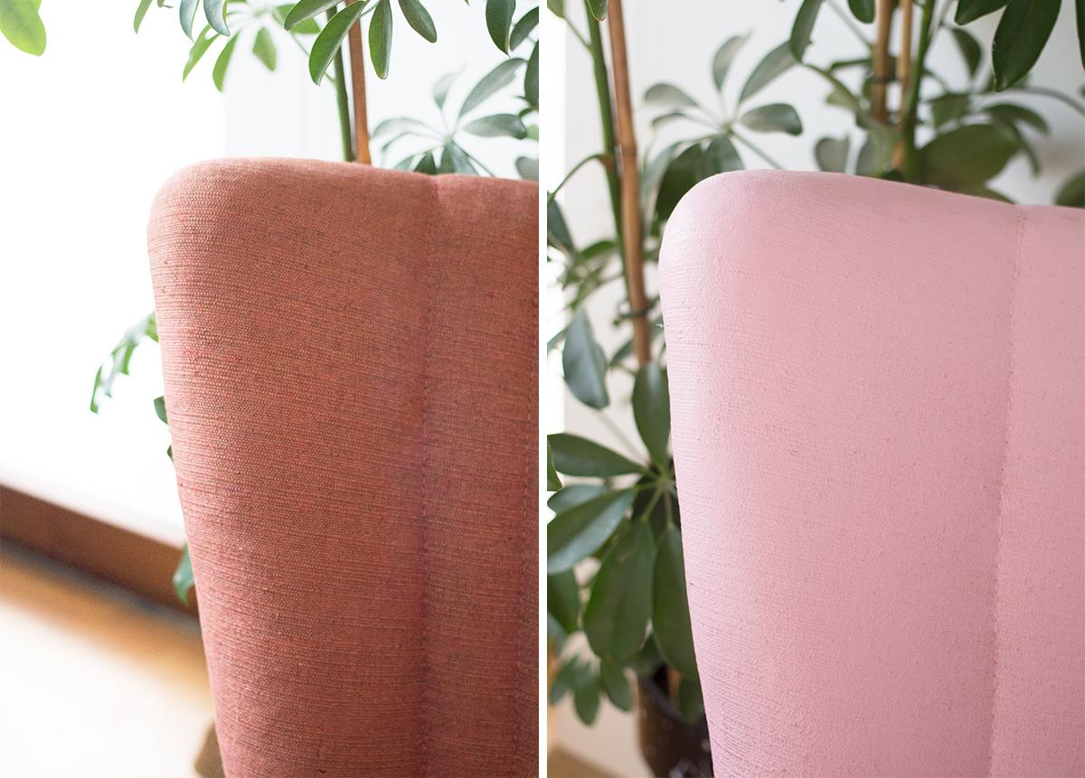 Malowanie tapicerki farbą kredową / Jak odnowić stary fotel?