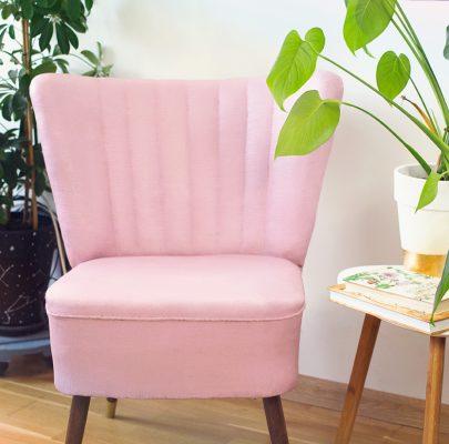 Malowanie tapicerki farbą kredową / niskobudżetowa metamorfoza starego fotela