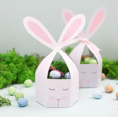 Koszyczek-zajączek – pudełeczko na Wielkanoc do druku