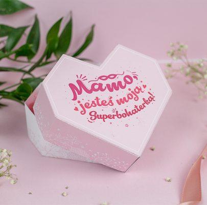 Serce dla Mamy – pudełko na prezent do wydrukowania