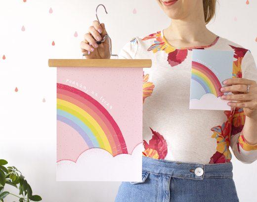 Tęczowe plakaty i kartki okolicznościowe do wydrukowania
