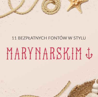 11 bezpłatnych fontów w stylu marynarskim