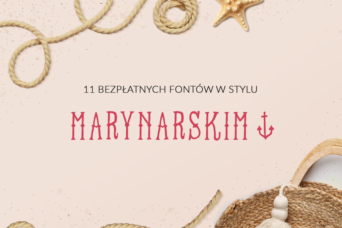 Fonty w stylu marynarskim