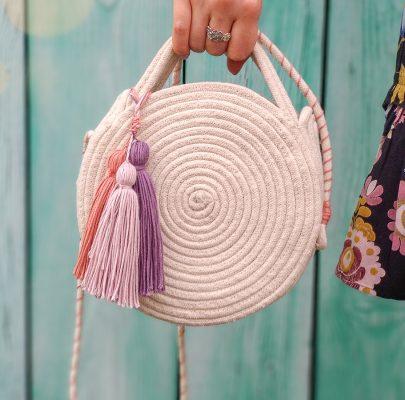 Okrągła torebka ze sznurka – zrób ją sama! :)