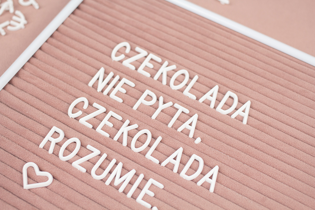 DIY: letter board / tablica na literki
