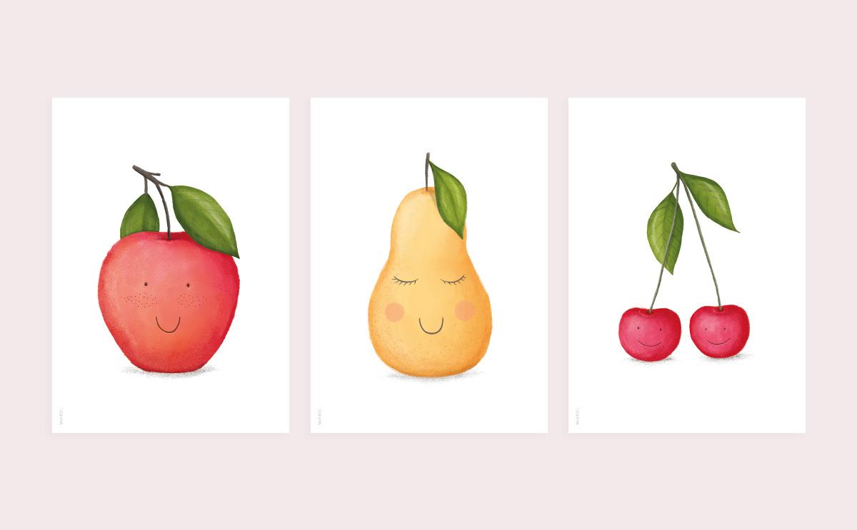 Owocowe plakaty do druku