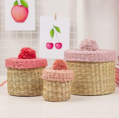 DIY: Kolorowe koszyczki z pomponami / szybki i prosty #ikeahack