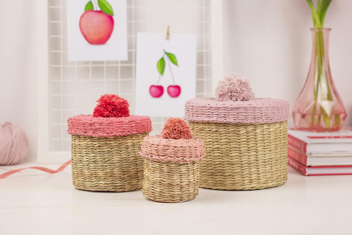 DIY: Kolorowe koszyczki z pomponami / szybkie i proste #ikeahack